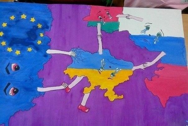 Как рисовать россия и украина